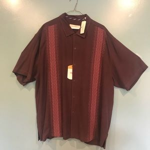 NWT Tommy Bahama 100% Silk Button Down Shirt